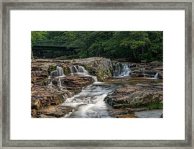 Framed Print featuring the photograph Jackson Falls by Cindy Lark Hartman