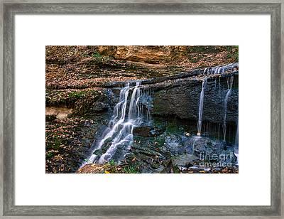 Jackson Falls - Natchez Trace Framed Print by Debra Martz