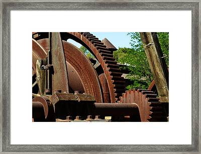 Jackson Gears 2 Framed Print by Nancy Manning