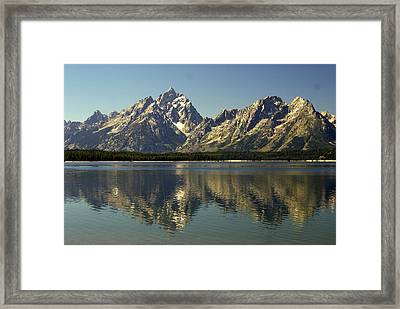 Jackson Lake 2 Framed Print by Marty Koch
