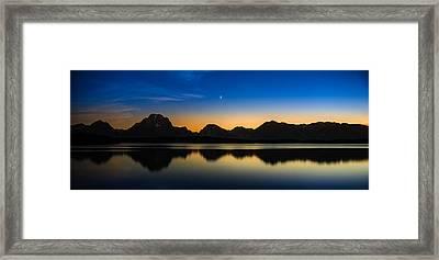 Jackson Lake Grand Tetons N P Framed Print