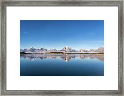 Framed Print featuring the photograph Jackson Lake by Mary Hone