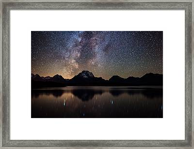 Jackson Lake Milky Way Framed Print by Darren White