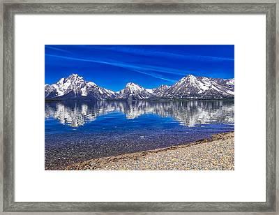 Jackson Lake Reflection Hdr Framed Print