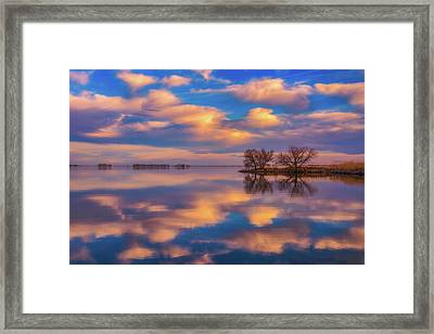 Framed Print featuring the photograph Jackson Lake Sunset by Darren White