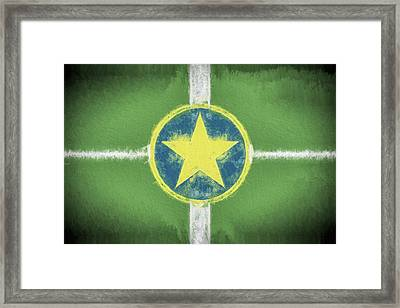 Framed Print featuring the digital art Jackson Mississippi Flag by JC Findley