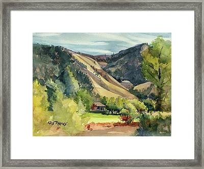 Framed Print featuring the painting Jackson Solitude by Kris Parins