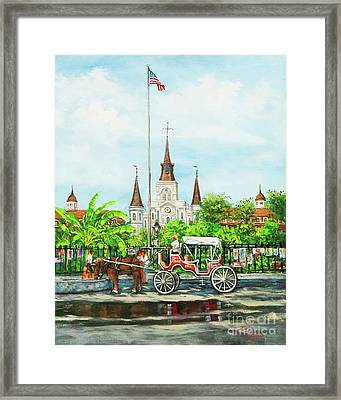 Jackson Square Carriage Framed Print