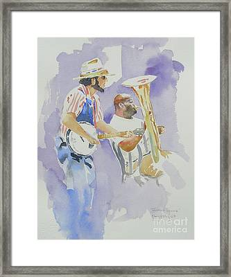 Framed Print featuring the painting Jackson Square by Mary Haley-Rocks