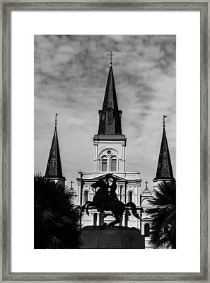 Jackson Square - Monochrome Framed Print