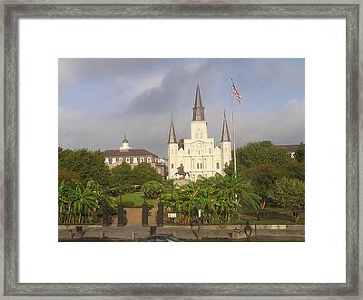 Jackson Square Morning Framed Print by Jack Herrington