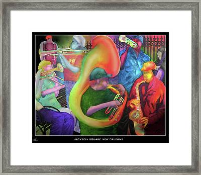 Jackson Square New Orleans Framed Print by Larry Rice