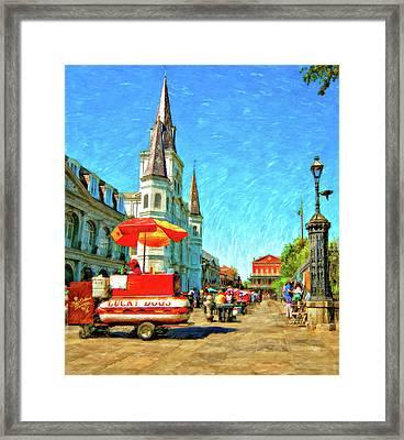 Jackson Square Oil Framed Print by Steve Harrington