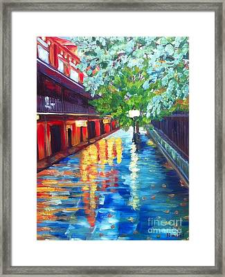 Jackson Square Reflections Framed Print