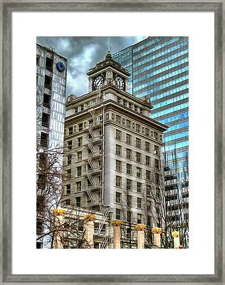 Jackson Tower Portland Oregon Framed Print