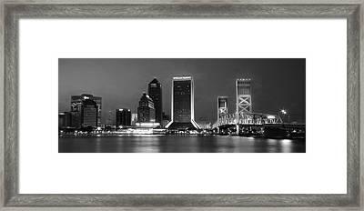 Jacksonville At Night Framed Print by Lori Deiter