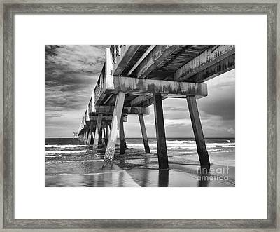 Jacksonville Beach Florida Usa Pier Framed Print