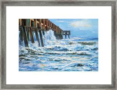 Jacksonville Beach Pier Framed Print