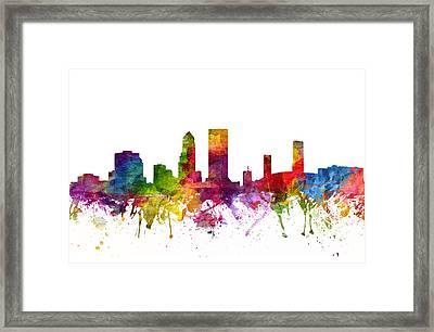 Jacksonville Cityscape 06 Framed Print