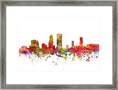 Jacksonville Cityscape 08 Framed Print