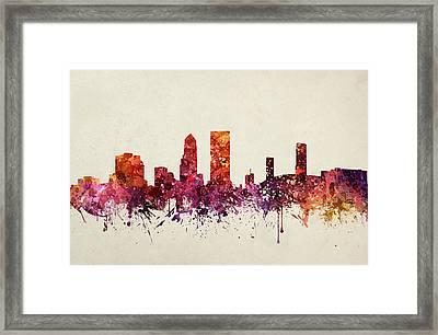 Jacksonville Cityscape 09 Framed Print