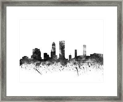 Jacksonville Florida Cityscape 02bw Framed Print
