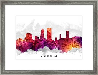Jacksonville Florida Cityscape 14 Framed Print