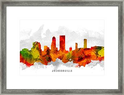 Jacksonville Florida Cityscape 15 Framed Print by Aged Pixel