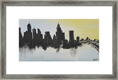 Framed Print featuring the painting Jacksonville Florida by Gary Smith