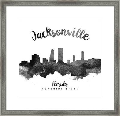 Jacksonville Florida Skyline 18 Framed Print