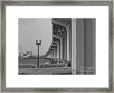 Jacksonville Fuller Warren Bridge Framed Print by Luther Fine Art