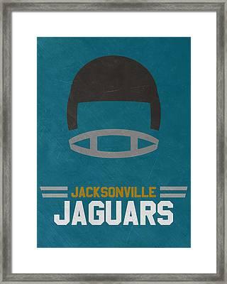 Jacksonville Jaguars Vintage Art Framed Print