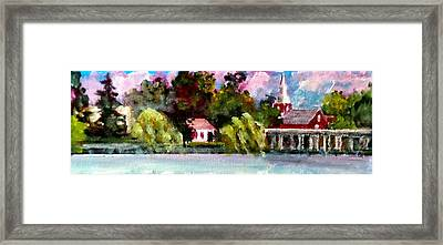 Jacksonville Nc Waterfront Framed Print