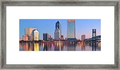 Jacksonville Pano At Dawn Framed Print