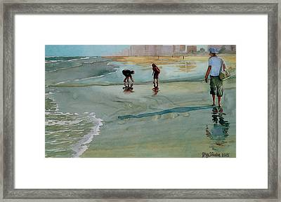 Jacksonville Shell Hunt Framed Print