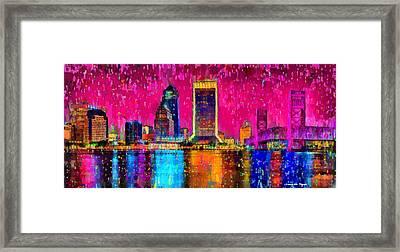 Jacksonville Skyline 102 - Pa Framed Print
