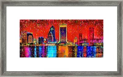 Jacksonville Skyline 103 - Da Framed Print