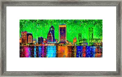 Jacksonville Skyline 106 - Da Framed Print by Leonardo Digenio