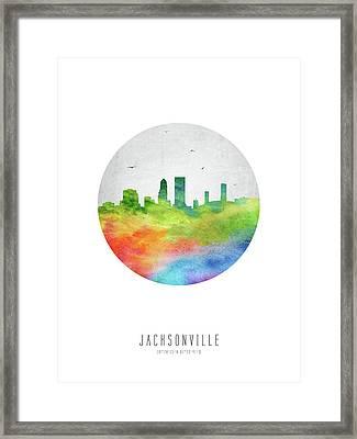 Jacksonville Skyline Usflja20 Framed Print