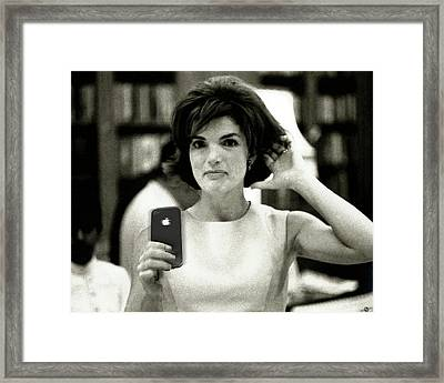 Jacky Kennedy Takes A Selfie Small Version Framed Print by Tony Rubino
