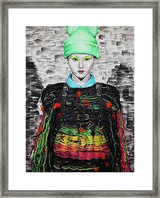 Jacky Framed Print by Maudy Alferink