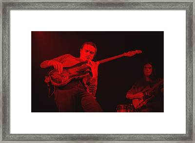 Jaco On Air - Red Framed Print by Philippe Taka