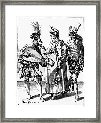 Jacob De Gheyn: The Masks Framed Print