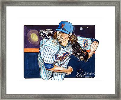 Jacob Degrom Of The New York Mets Framed Print by Dave Olsen