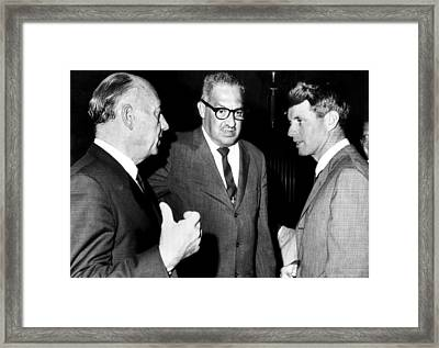 Jacob Javits, Thurgood Marshall Framed Print by Everett
