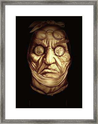 Jacob Marley Framed Print by Fred Larucci
