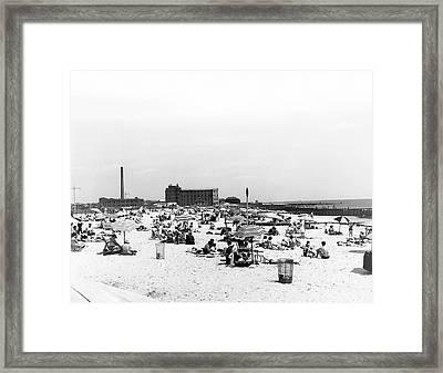Jacob Riis Park Beach Framed Print