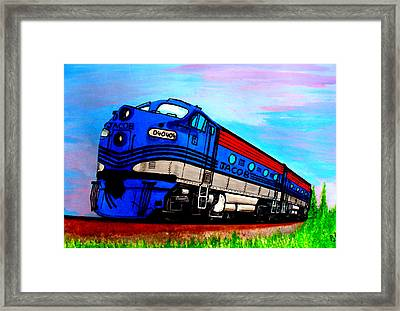 Jacob The Train Framed Print