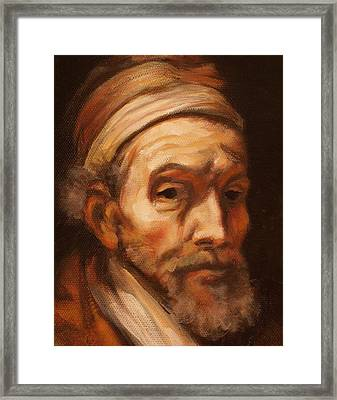 Jacob Trip After Rembrandt Closeup Of Face Framed Print