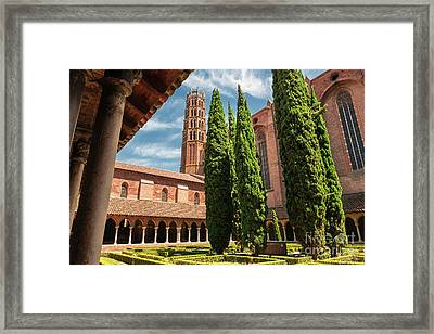 Jacobin Convent In Toulouse Framed Print by Elena Elisseeva